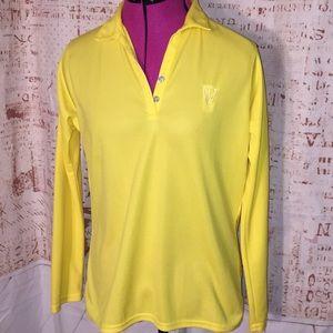 Antigua Yellow Light Weight Golf Shirt Size M...A3